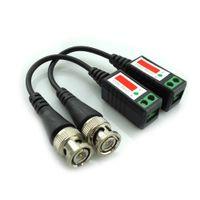 3000FT расстояние UTP видео Балун витой CCTV Балун пассивные приемопередатчики BNC кабель Cat5 CCTV адаптер 2pc