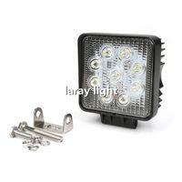 27W 높은 전원 자동차 오프로드 LED 작업 조명 오프로드 작업 램프 9 x 3W 비드 LED 트럭 지프 ATV 보트