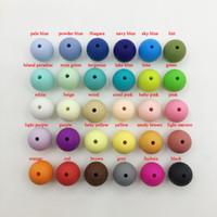 12 milímetros Silicone Beads Silicone talão 100pcs / lot Food Grade dentição Enfermagem Mastigar rodada solta pérolas Silicone Beads