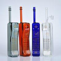 """11.5 """"Téléphone mobile forme coloré verre bongs fumant des tuyaux d'eau de recyclage de l'huile de recyclage DAB bol bec bécher barboteur perc 14mm"""
