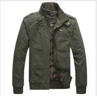 Giacche da uomo Cappotti rrival Moda uomo Casual Primavera Autunno Jacket Cotton Stand Collar Coat 4 colori