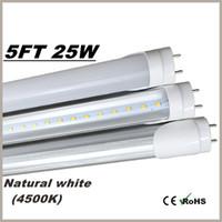 трубка Т8 5ft светодиодный свет 4000K Дневной свет (нейтральный белый) 25Watt 3000LM SMD2835 85-265 Led освещение 5 футов люминесцентные лампы лампы
