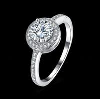 Venda venda de moda jóias Novo 925 prata opala casal anel apto pandora feminino cristal de swarovski anéis