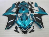 Kit de carénage moulés par injection ABS complète pour Yamaha YZF R1 07 08 Verte Black Motorcycle Cornés Set Yzfr1 2008 2008 YI22