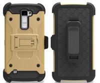 Pour LG G6 Stylo 3 Stylus 2 Plus LS775 K7 K10 K3 K5 V20 Tribute HD V20 Étui combiné Armure robuste hybride avec étui Étui de protection