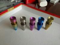 Anodizado colorido 10mm 14mm 19mm 6 em 1 domeless gr 2 unhas de titânio com macho e fêmea conjunta 100 pçs / lote