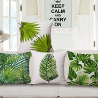 зеленый страна украшения чехлы природа листва декоративные подушки чехол весна лето лист стул диван almofada 45 см cojin