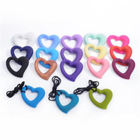 Silicone Teething Beads Food Grade Silicon Heart Shape Penda...