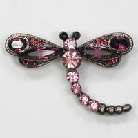 Spilla moda all'ingrosso spilla marquise strass libellula pin spille C101261