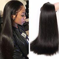 Ucuz Toptan Fiyat İpeksi Striaght Brezilyalı Saç 3 Paketler% 100% İnsan Unprocess 8A Sınıf Düz Bakire Saç Düz Saç Uzantıları