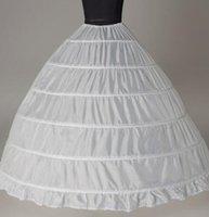الكرة ثوب كبيرة تنورات جديدة وصول أبيض 6-الأطواق العروس تحتية اللباس الرسمي كرينولين زائد الحجم اكسسوارات الزفاف للمرأة