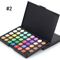 Factory Direct DHL Livraison Gratuite Nouveau maquillage Popfeel 40 couleurs Palette ombre de paupières! 2 couleurs différentes