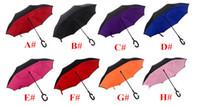 Guarda-chuva Invertido Criativo Invertido Dupla Camada Com Alça C 16colors Dentro Para Fora Reversa À Prova de Vento guarda-chuva Sombrinha