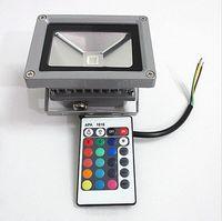 무료 shiiping LED 투광 조명 RGB IP67 방수 10W AC85-265V 야외 홍수 조명 Projecteur Exterieur 24 키 리모트