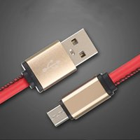 1m 3ft High Quality Leather Micro USB Fast Charging Cable Ha...