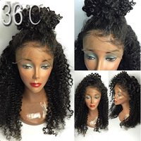 fast shipping free Part Synthetic Wigs Kinky Curly Lace Fron...