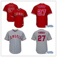 Men' s Los Angeles Angels of Anaheim Mike Trout 27# base...