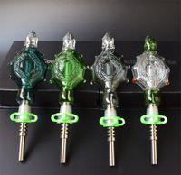 2017 Hot Selling Nectar Collector Pendants Avslutade Kit Pendants Base Domeless Nail Titanium Nail 14mm Oil Rig Recycler Glass Bong