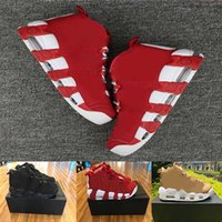 AIR MORE UPTEMPO 96 QS Olímpicos Varsity Maroon Mens Basketball Shoes para 3M Scottie Pippen Sports shoes Sneakers