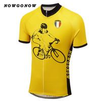 남자 2017 자전거 저지 브랜드 만화 프랑스 자전거 의류 착용 노랑 미친 도로 트라이 애슬론 산 pto 팀 NOWGONOW 도매 투어