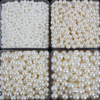 100pcs lot New White ABS Imitation Pearls Beads Making Jewel...