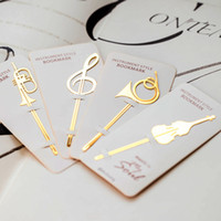 Wholesale- 40 pcs Lot Instrument style bookmarks Music note ...
