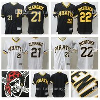 100% cousu 22 Andrew McCutchen 21 Roberto Clemente Maillot de baseball Pittsburgh Pirates Flex Base Maillot MLB Majestic Home Jersey