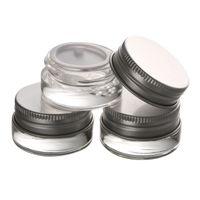 5g de alta qualidade frasco de creme de vidro com tampa de alumínio, 5 ML de boca larga recipiente cosmético, olho creme de embalagem de cosméticos