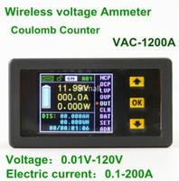 Бесплатная доставка VAT1200A 100 в 200A беспроводной ЖК-дисплей цифровой вольтметр амперметр монитор мощности тестер напряжения Измеритель тока