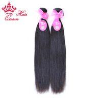 """Королева волос 8"""" -28 """" 2 шт. / лот девственные бразильские натуральные прямые волосы человеческие волосы плетение Оптовая клубок бесплатно без пролития"""
