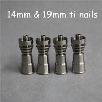 Titanium Domeless Nagel GR2 14mm 19mm Joint Female Ti Nail Carb Kappe Dabber Grade 2 Neue Domeless Titanium Ti Nägel