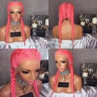 Pelucas de cabello humano de encaje completo sin escaramujos Pelucked Pin rosado puro recto brasileño virgen humano cabello humano 130 densidad de peluca delantera de encaje con pelo de bebé