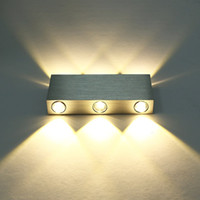 Modern Pure White 18W High Power 6 LED Up Down Wall Lamp Spo...
