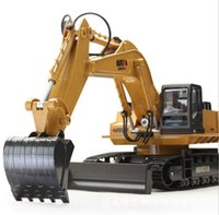Wholesale- Huina 1510 510 RC Excavator 2. 4G 11CH Metal Remot...