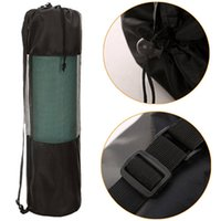 Al por mayor-Portátil útil Pilates Nylon Yoga Mat Bolsa Carrier Mesh Center ajustable correa