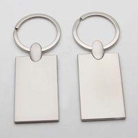 photo personnalisés trousseaux Blank image personnalisée porte-clés en métal Porte-clés Rectangel KM01C SHIPPING DROP