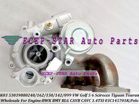 Turbocharger Turbo K03 53039700162 53039880248 53039880162 150 0142 ل VW Golf 5 6 بولو 5 Scirocco Tiguan Touran 1.4L TSI BWK BMY BLG CAVCB