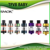 Authentique Smok TFV8 Baby Tank 3.0ml Top Recharge TFV8 Baby Cloud Beast Atomizer Fit Baby-Q2 Baby-T8 Baby-X4 Bobine Head 100% authentique DHL Free