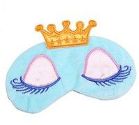 Güzel Prenses Taç Fantasy Eyes Kapak Seyahat Uyku Körü Körüne Gölge Göz Maskeleri Karikatür Uzun Kirpikler Göz Farı siperliği