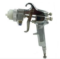 Hohe Qualität Luftdruck Spritzpistole Neue maler doppel düse spritzpistole für chrom und silber spiegel malerei freies DHL verschiffen