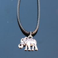 Großhandels-N795 Lucky Elephant Anhänger Halsketten Bijoux Collares Für Frauen Männer Punk Tier Halskette Modeschmuck NEU