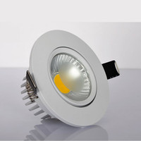 White shell 9w Dimmable COB LED Downlight 90- 260V 12v 1050lm...