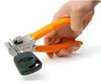 Clave original de Lishi Cortador de cerrajería llave del coche de la herramienta del cortador automático de teclas de herramientas de corte de la máquina de cerrajería corte a la plana Claves Directamente