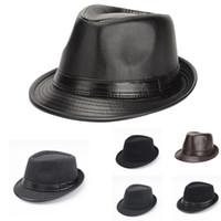 جديد الخريف الشتاء النمط البريطاني الرجال الجاز قبعات القبعات موضة الصوف ورأى قبعة فيدورا تريلبي للرجال في منتصف العمر وكبار السن GH-215