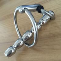 Nuovo ciondolo in acciaio inox cuneo cuneo anello catetere catetere dilatatore uretra suoni uretra giocattolo del sesso per gli uomini