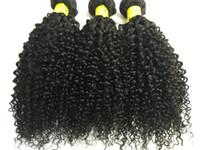 Pacotes brasileiros Extensões de Cabelo Humano Tece Kinky Curly Cabelo Wefts Malaio Não Transformados Feixes de Cabelo Trama Dupla 3 pcs preço de atacado
