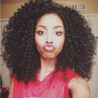Top Quality Afro kinky curly full wig simulation brazilian h...