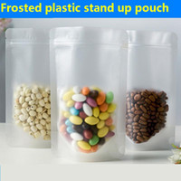 Frosted plastic bags Stand up Pouch Self sealed small retail...