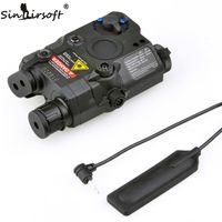 Sinairsoft 전술 PEQ-15 빨간색 레이저와 흰색 LED 손전등 토치 IR 조명기 Airsoft 사냥 야외용