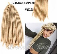 Synthetic faux locs crochet braids hair #613 blonde 18'...